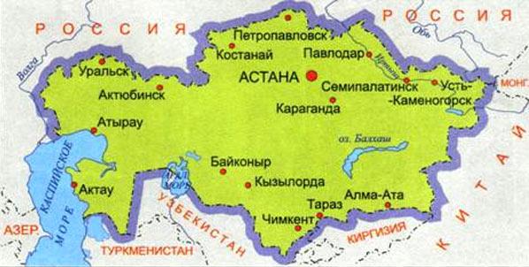 Атырау, Казахстан, карта