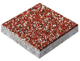 Эпоксидный пол, piasek kwarcowy kolor красный