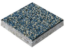 Эпоксидный пол, кварцевый песок цвет голубой